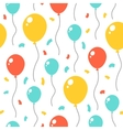 Birthday party seamless pattern vector image