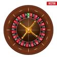 Casino gambling roulette wheel vector image