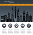 City web site design template vector image