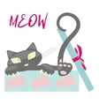 Gift with cute black Kitten vector image