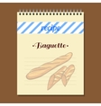 Recipe Book Baguette vector image
