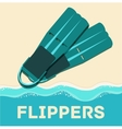 Retro flat diving tools icon concept design vector image