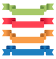 ribbon tag set vector image