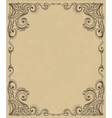 Template frame design for card vector image