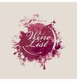 wine list 007 vector image