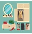 Woman Clothes Set vector image