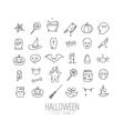 Halloween flat icons vector image vector image