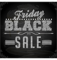 Black Friday Sale Sign vector image