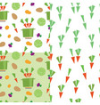set of patterns vector image
