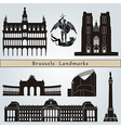 Brussels landmarks and monuments vector image