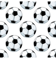 Seamless background pattern of soccer balls vector image vector image