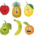 Emotion cartoon fruits set 010 vector image vector image