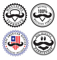 Retro hipster stamps and labels vector image