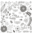 You make me happy romantic card with flowers vector image vector image
