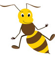 a friendly cute bee vector image