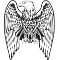 Eagle with the lowered wings vector image