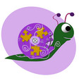 funny snail character vector image