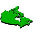 map of Canada in the amount of vector image