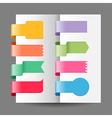 ribbon tags set vector image