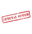 Special offer rubber stamp vector image