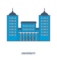 university building flat vector image