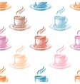 Seamless pattern with colorful coffee cups vector image vector image