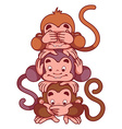 Symbol of 2016 - a monkey vector image