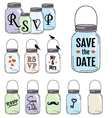 Save the date jar designs vector image vector image