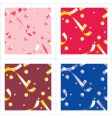 holiday pattern vector image vector image