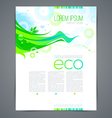 Eco template page design with abstract green shape vector image vector image