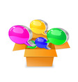 bubble chat boxes vector image vector image