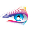 abstract eyelashes vector image
