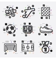 football infographic vector image