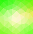 Abstract polygonal green background vector image