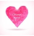 Bright watercolor heart vector image
