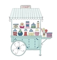 Cart for sale candy vector image