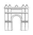 castle building icon image vector image