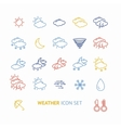 colorful outline weather icon vector image