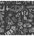 Hand drawn music pattern vector image