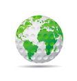 isolated golf earth vector image