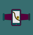 icon in flat design smartphone for running vector image