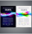 Business template page design with colorful shape vector image vector image