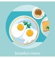 Morning breakfast menu vector image