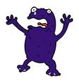 comic cartoon poisonous frog vector image