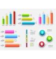 3d chart diagram business presentation Realistic vector image