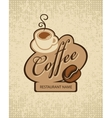 cup of coffee and grain vector image vector image
