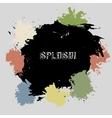 Color splash Blot on grey background vector image