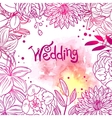 floral and watercolor design vector image