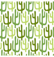 mexican cactus seamless pattern cartoon vector image