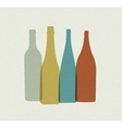 Bottle background Retro poster vector image